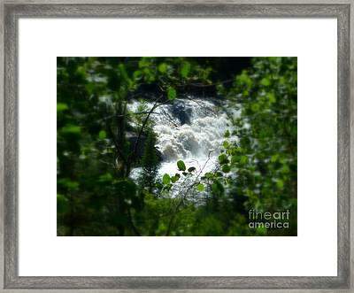 Falls In Forest Frame Framed Print by Art Studio