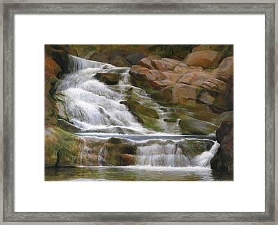 Falls Of Doodletown Creek Framed Print by Glen Heberling