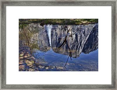 Falls Pool Reflection Framed Print by Garry Gay