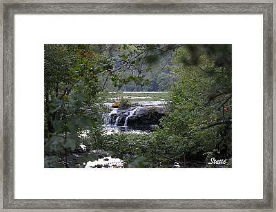 Falls Through Trees Framed Print by Static Studios
