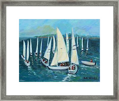 Framed Print featuring the painting Falmouth Regatta by Rita Brown