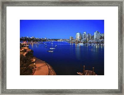 Framed Print featuring the photograph False Creek by Scott Holmes
