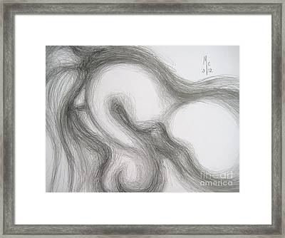 False Despair And A Silver Heart Framed Print by Marat Essex