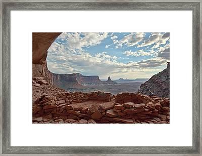 False Kiva Framed Print by Jennifer Grover