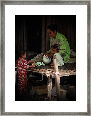 Family Framed Print by Arik S Mintorogo