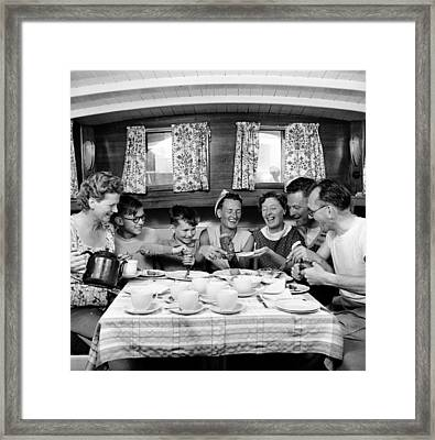 Family Fun Framed Print by John Drysdale
