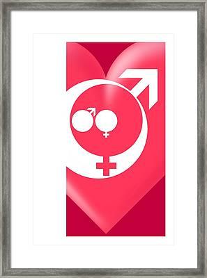 Family Gender And Love Symbols Framed Print by Detlev Van Ravenswaay
