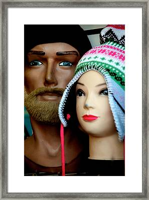 Family Hats Framed Print by Jez C Self