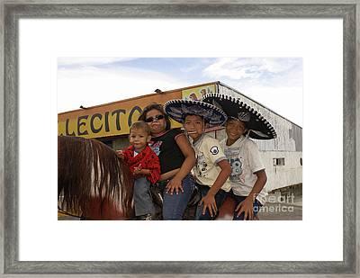 Family Horsing Around Managua Nicaragua Framed Print