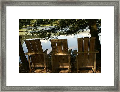 Family Meeting Framed Print by Margaret Steinmeyer
