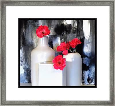 Family Of Roses Framed Print by Marsha Heiken