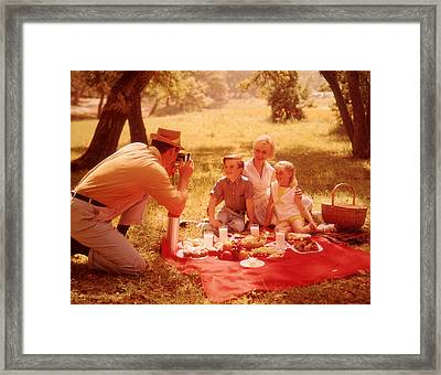 Family Picnic Framed Print by Fpg