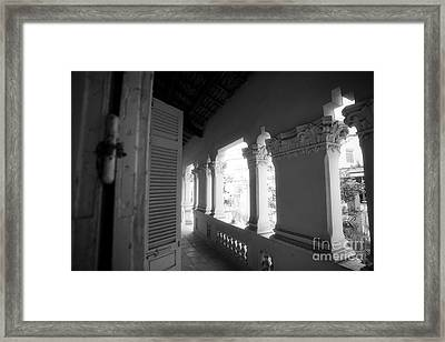 Family Porch Framed Print