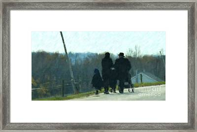 Family Time Framed Print by Debbi Granruth