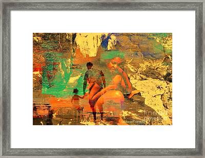 Family Unmade Framed Print by Fania Simon