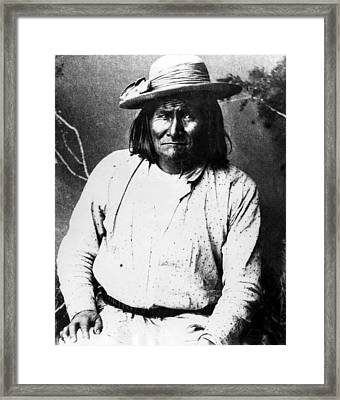 Famous Apache Leader, Geronimo Framed Print