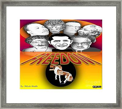 Famous Great Persons Framed Print by Belinda Threeths