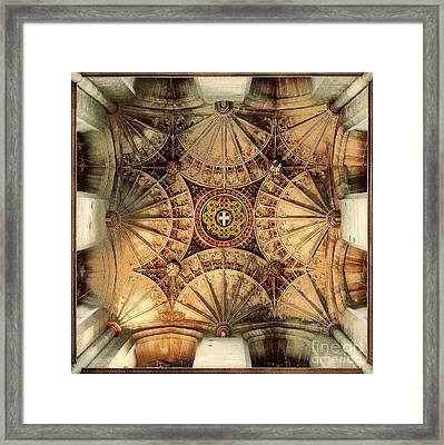 Fan Vaulting Canterbury Cathedral Framed Print by Jack Torcello