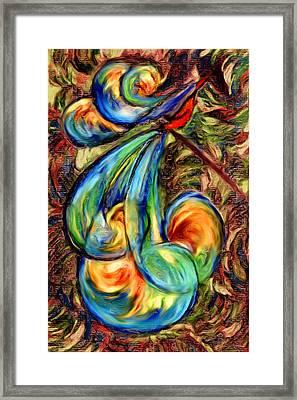 Fanciful Bird Framed Print by Judi Quelland