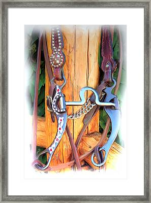 Fancy Bit And Headstall Framed Print