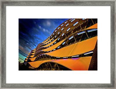 Fancy Cardiff Carpark Facade Framed Print by Meirion Matthias
