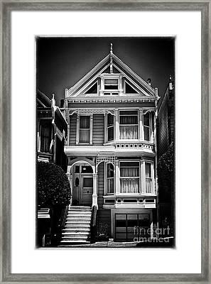 Fancy House Lv - Black And White Framed Print by Hideaki Sakurai
