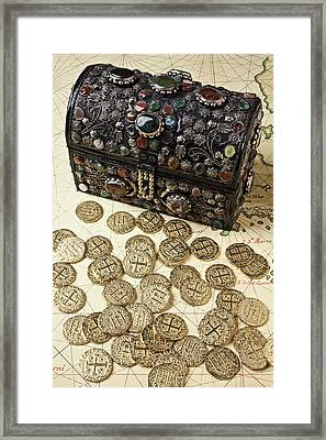 Fancy Treasure Chest  Framed Print by Garry Gay
