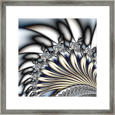 Fanfare - An Abstract Fractal Design Framed Print by Gina Lee Manley