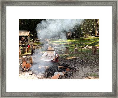 Fanning The Flames Framed Print by Marilyn Holkham