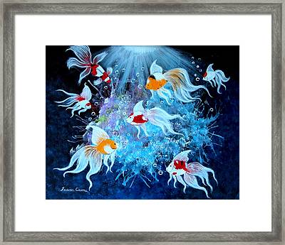 Framed Print featuring the painting Fantailia by Fram Cama