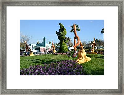 Fantasia In Flowers Framed Print by Bonnie Myszka