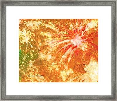 Fantastic Fireworks Framed Print by Rosie Brown
