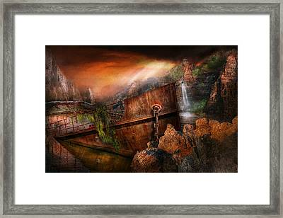 Fantasy - Ship Wrecked Framed Print by Mike Savad