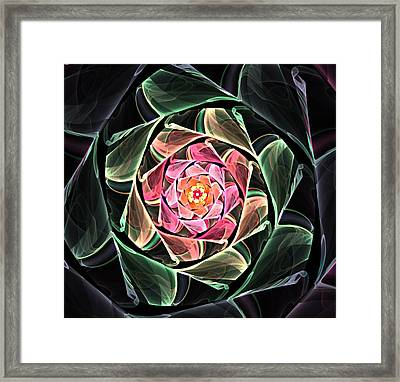 Fantasy Floral Expression 111311 Framed Print by David Lane