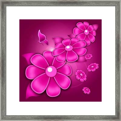 Fantasy Floral Framed Print