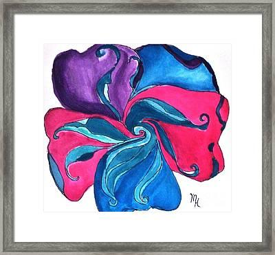 Fantasy Flower Abstract Framed Print by Marsha Heiken