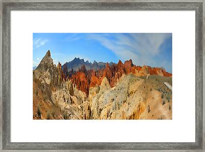 Framed Print featuring the photograph Fantasy Mountains by Gregory Scott