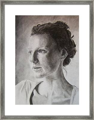 Framed Print featuring the drawing Far Away by Rachel Hames