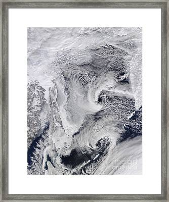 Far Eastern Russia Covered In Snow Framed Print by Stocktrek Images