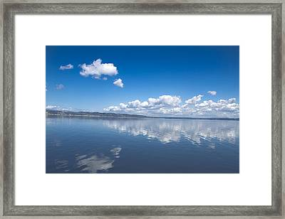 Faraway Clouds Framed Print by Julie Smith