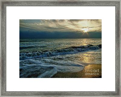 Farewell To The Sea Framed Print