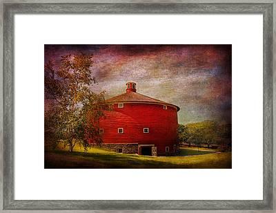 Farm - Barn - Red Round Barn  Framed Print by Mike Savad