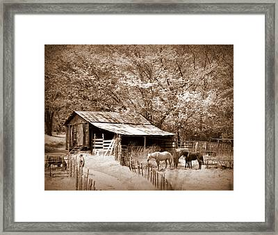 Farm And Barn Framed Print by Marty Koch