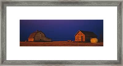 Farm Buildings Framed Print by David Nunuk