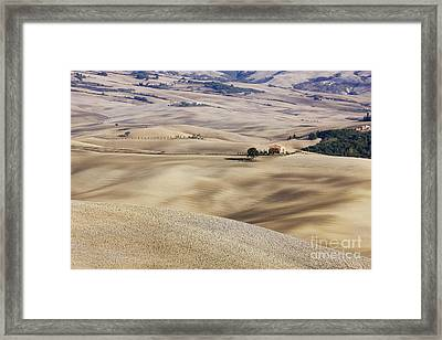Farm Fields Framed Print by Jeremy Woodhouse