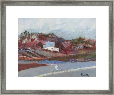 Farm House Cut Off Of Route 5 Framed Print by Betty Pieper