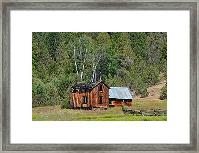 Farm House Framed Print by Melissa  Maderos