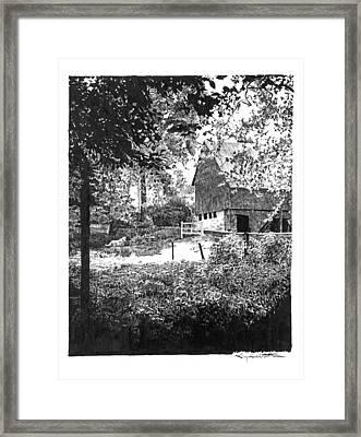Farm In Illinois Framed Print by Gary Gackstatter