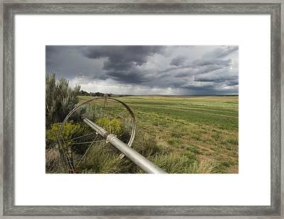 Farm Irrigation Sprinklers Next Framed Print