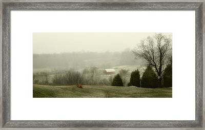 Farm Lands Framed Print